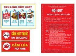 Giá nội quy tiêu lệnh chữa cháy